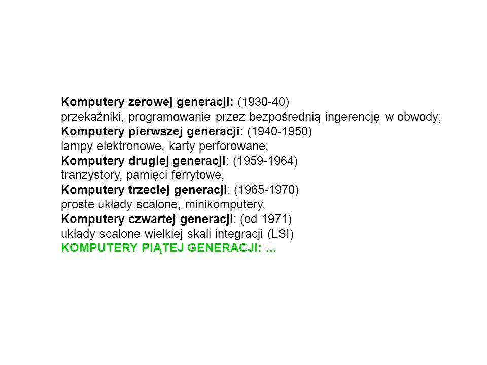 Komputery zerowej generacji: (1930-40)