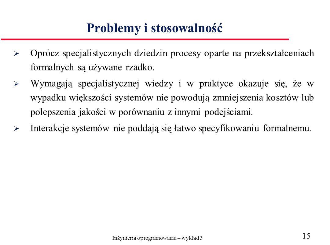 Problemy i stosowalność