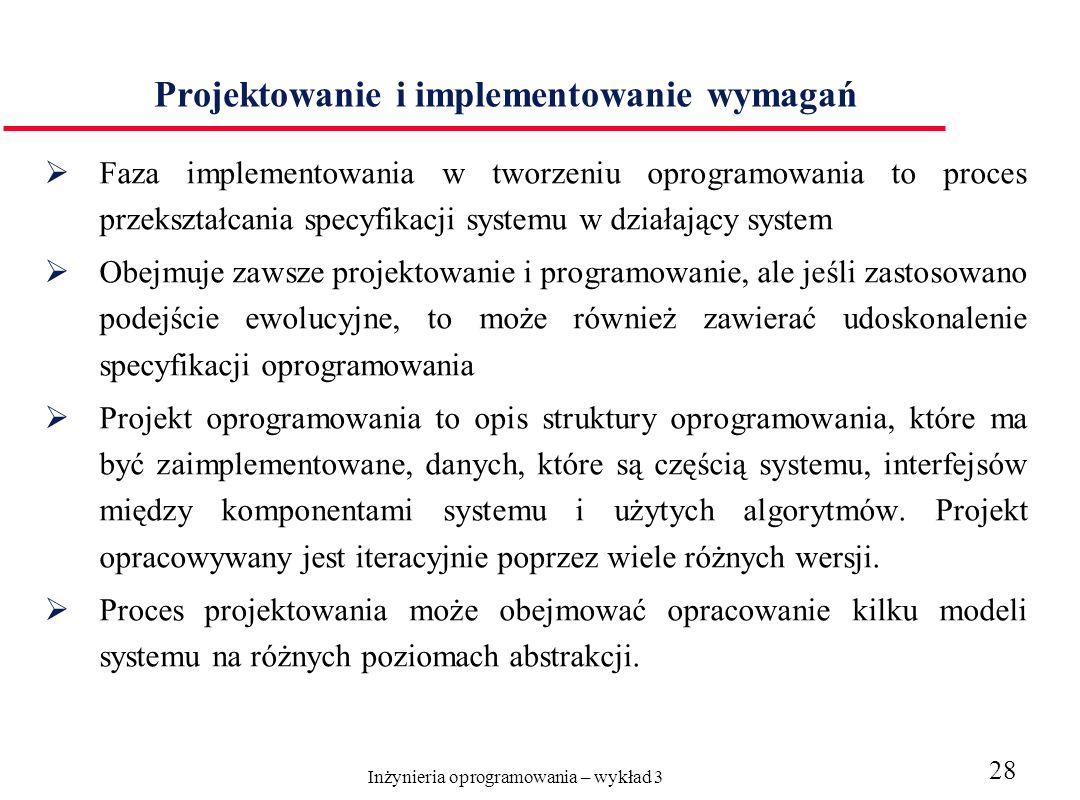 Projektowanie i implementowanie wymagań