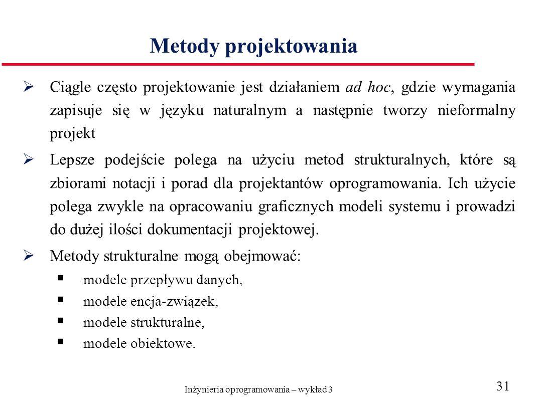Inżynieria oprogramowania – wykład 3