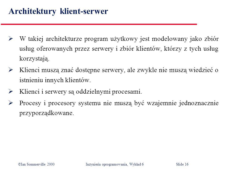 Architektury klient-serwer