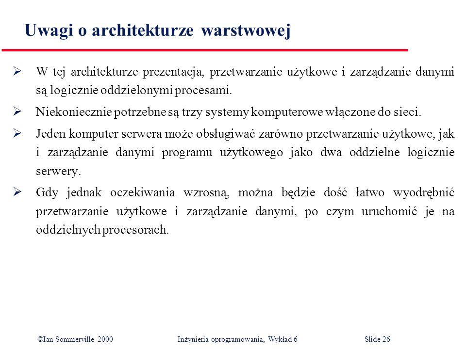 Uwagi o architekturze warstwowej