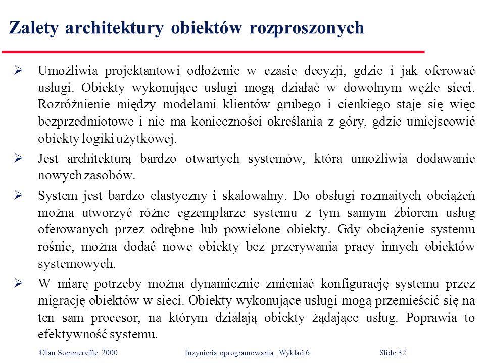 Zalety architektury obiektów rozproszonych