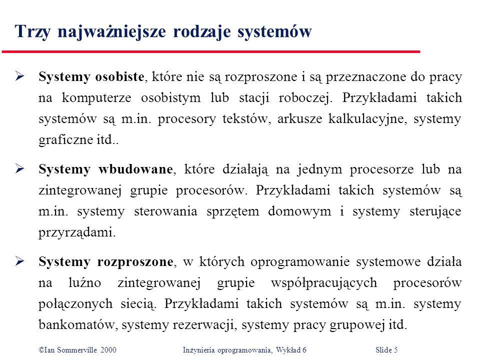 Trzy najważniejsze rodzaje systemów
