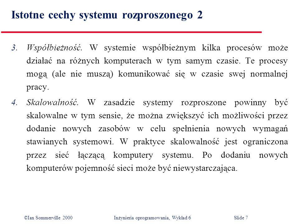 Istotne cechy systemu rozproszonego 2