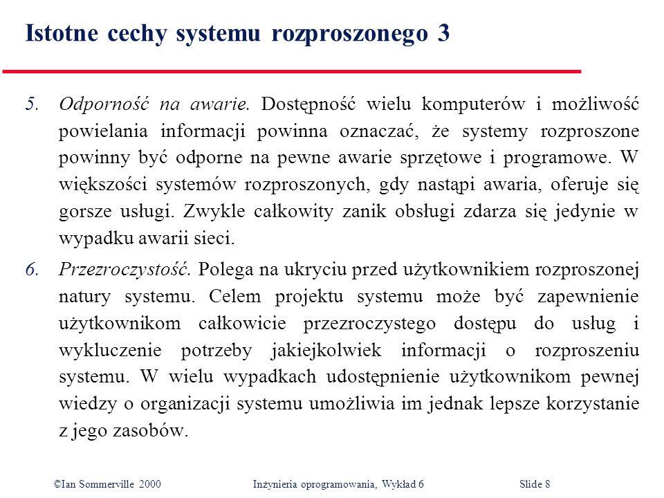 Istotne cechy systemu rozproszonego 3