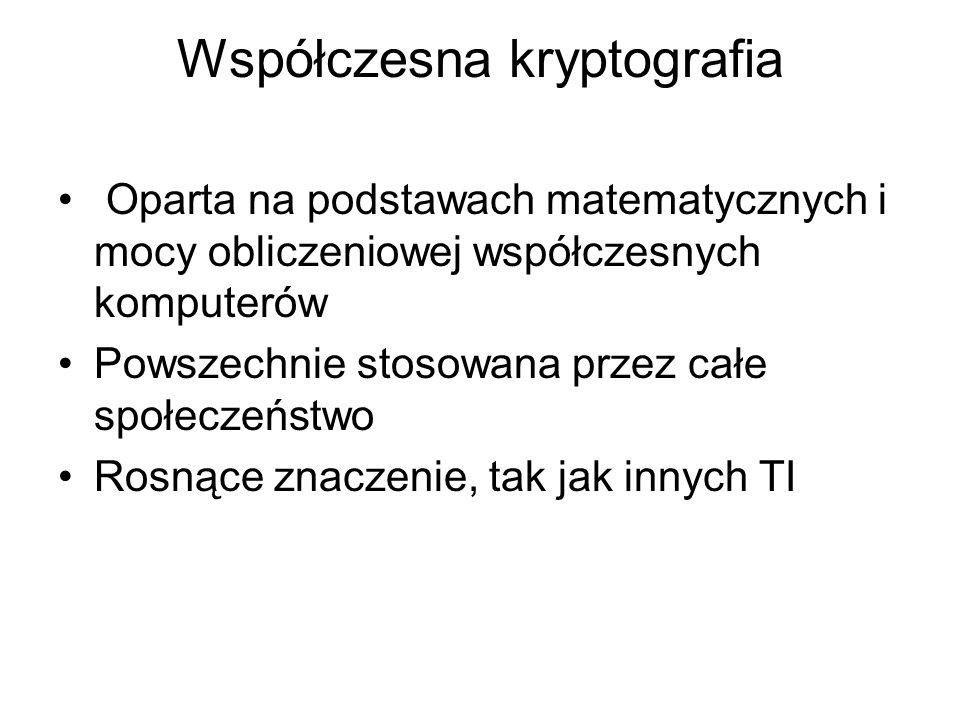 Współczesna kryptografia