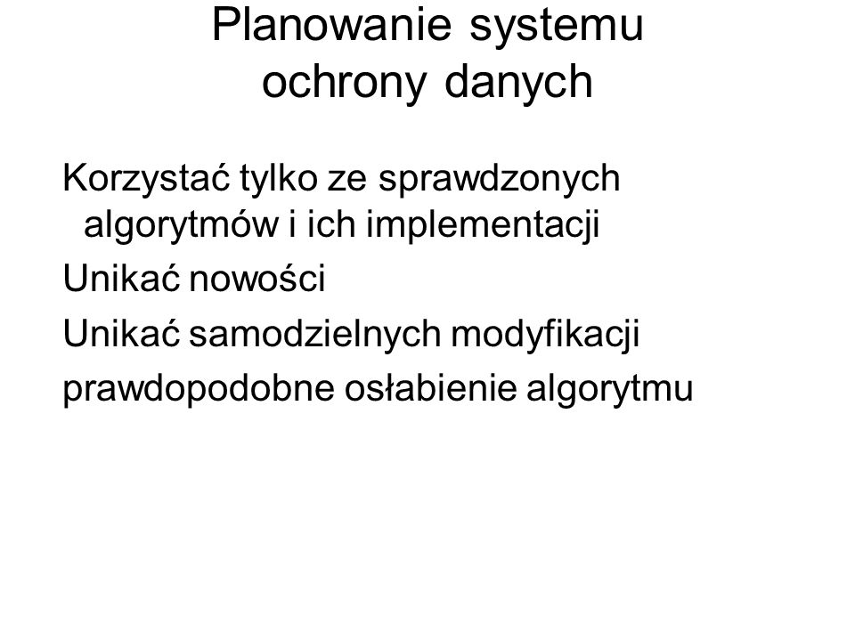 Planowanie systemu ochrony danych