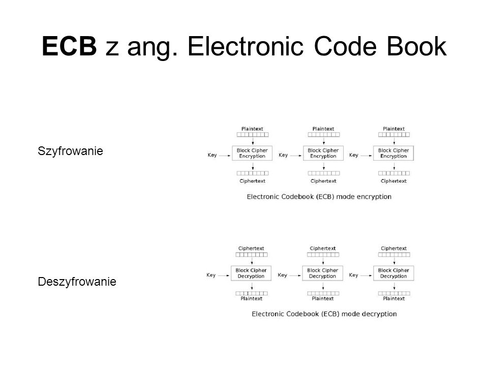 ECB z ang. Electronic Code Book