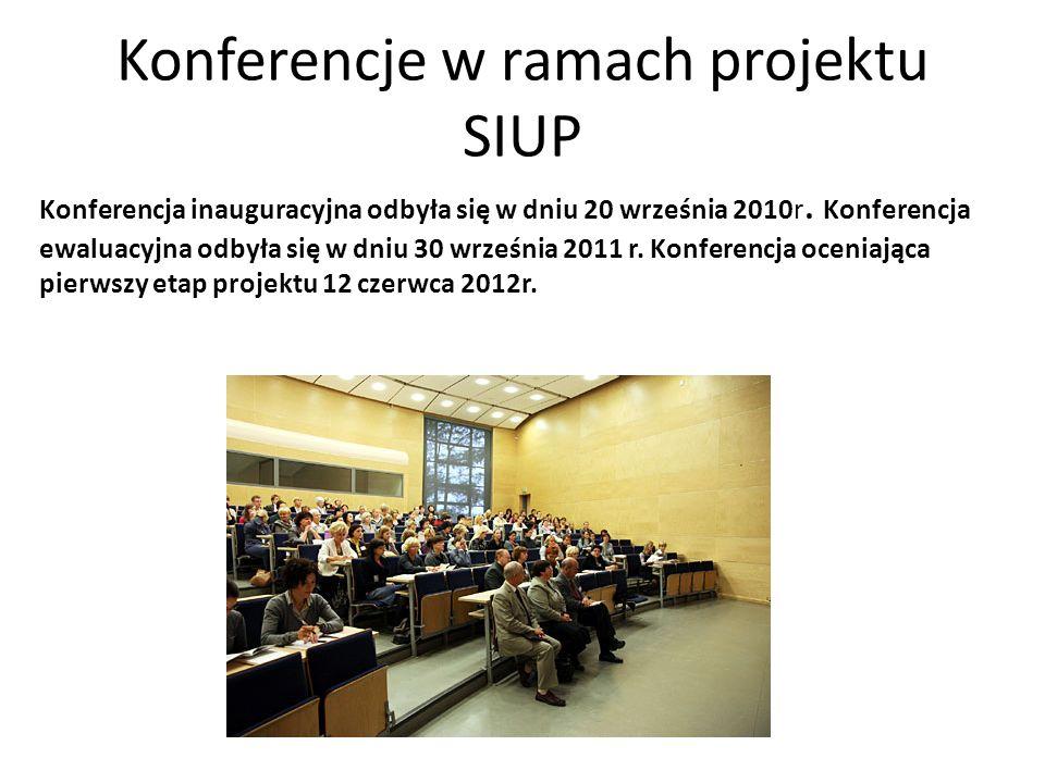 Konferencje w ramach projektu SIUP
