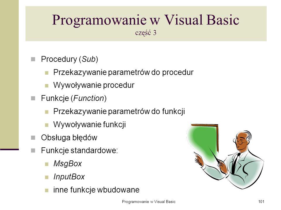 Programowanie w Visual Basic część 3