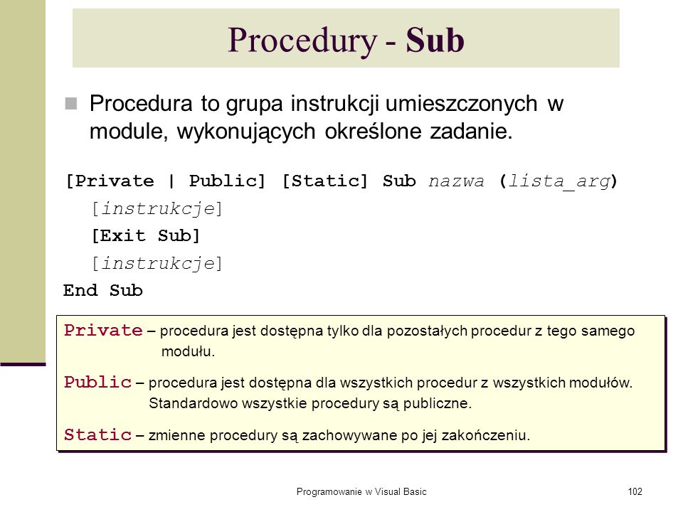 Programowanie w Visual Basic