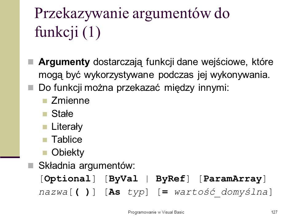 Przekazywanie argumentów do funkcji (1)