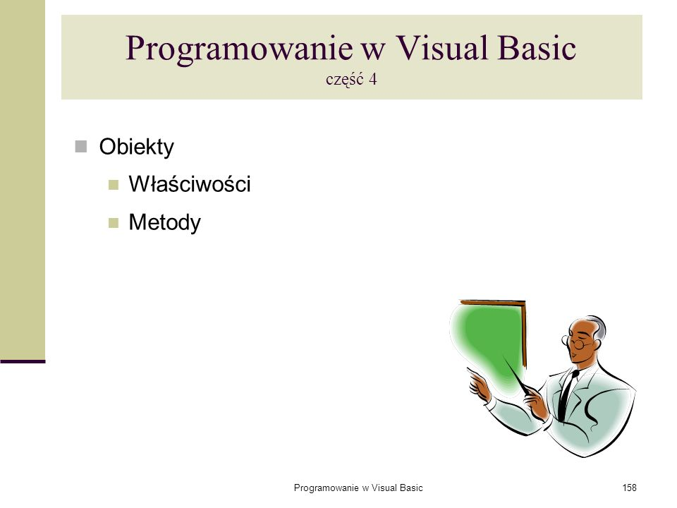 Programowanie w Visual Basic część 4
