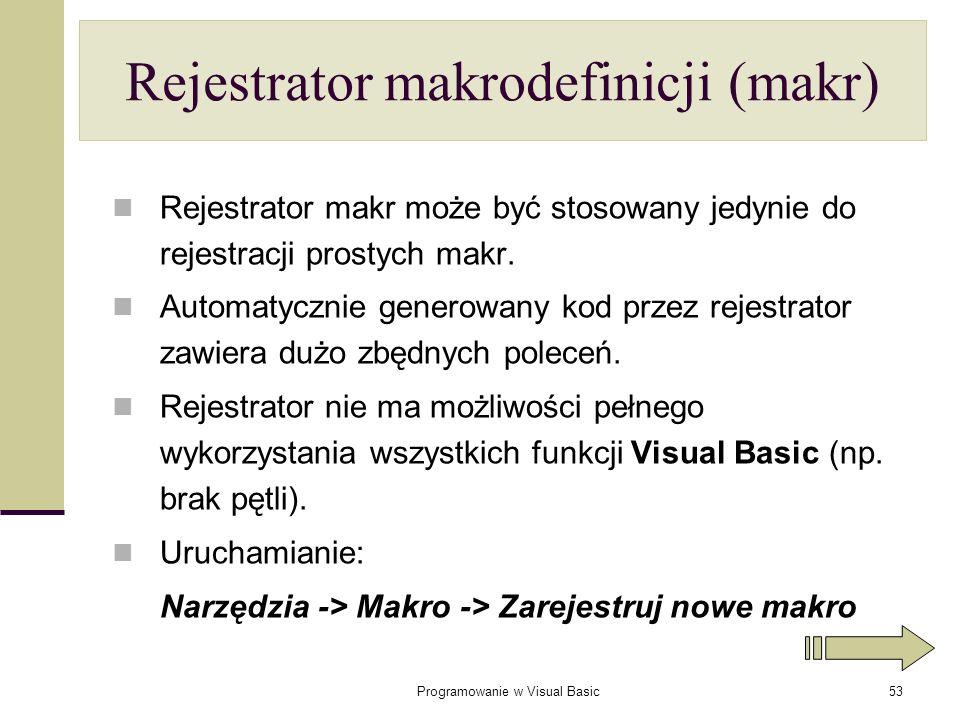 Rejestrator makrodefinicji (makr)