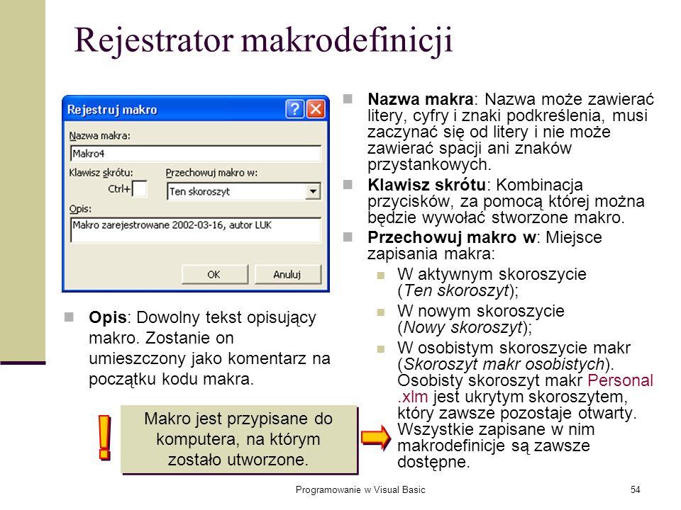 Rejestrator makrodefinicji