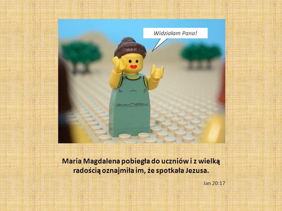 Widziałam Pana! Maria Magdalena pobiegła do uczniów i z wielką radością oznajmiła im, że spotkała Jezusa.