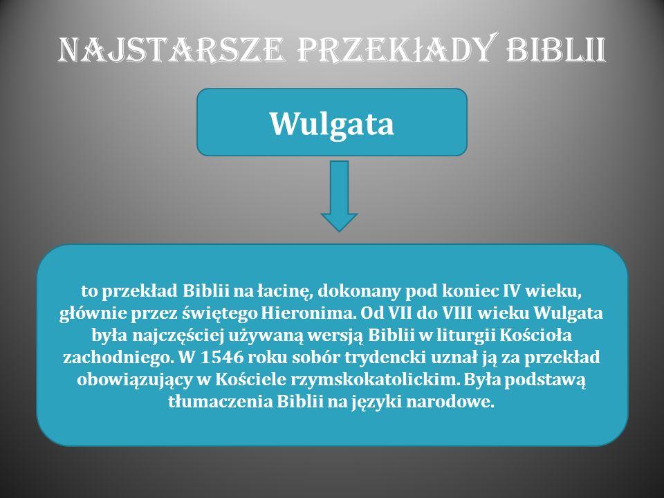 Najstarsze przekłady Biblii