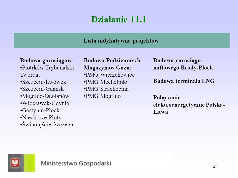 Lista indykatywna projektów
