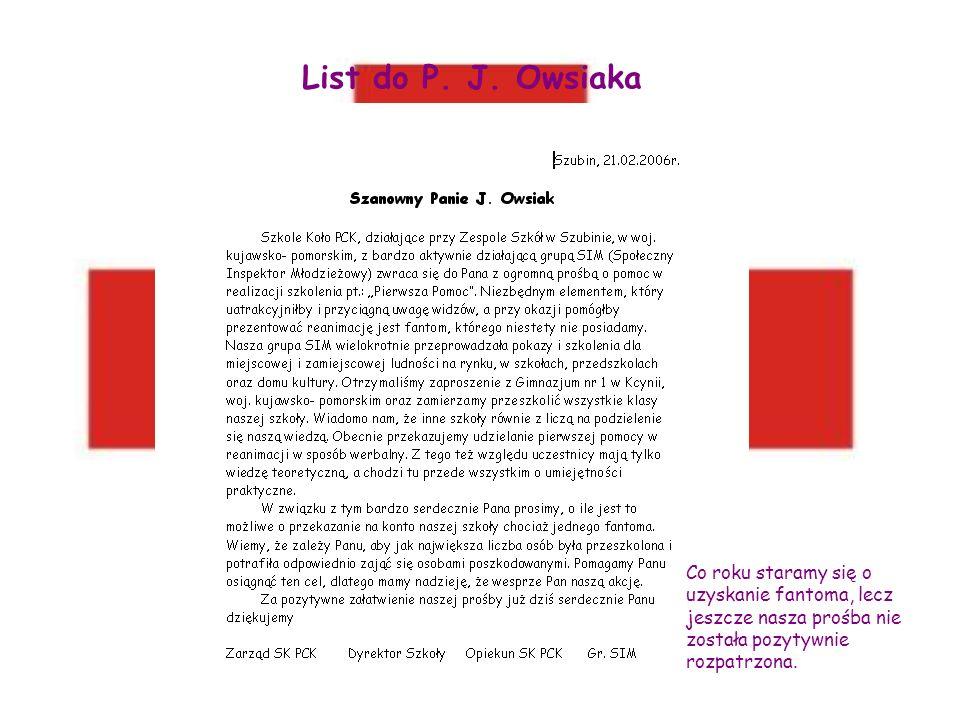 List do P.J.