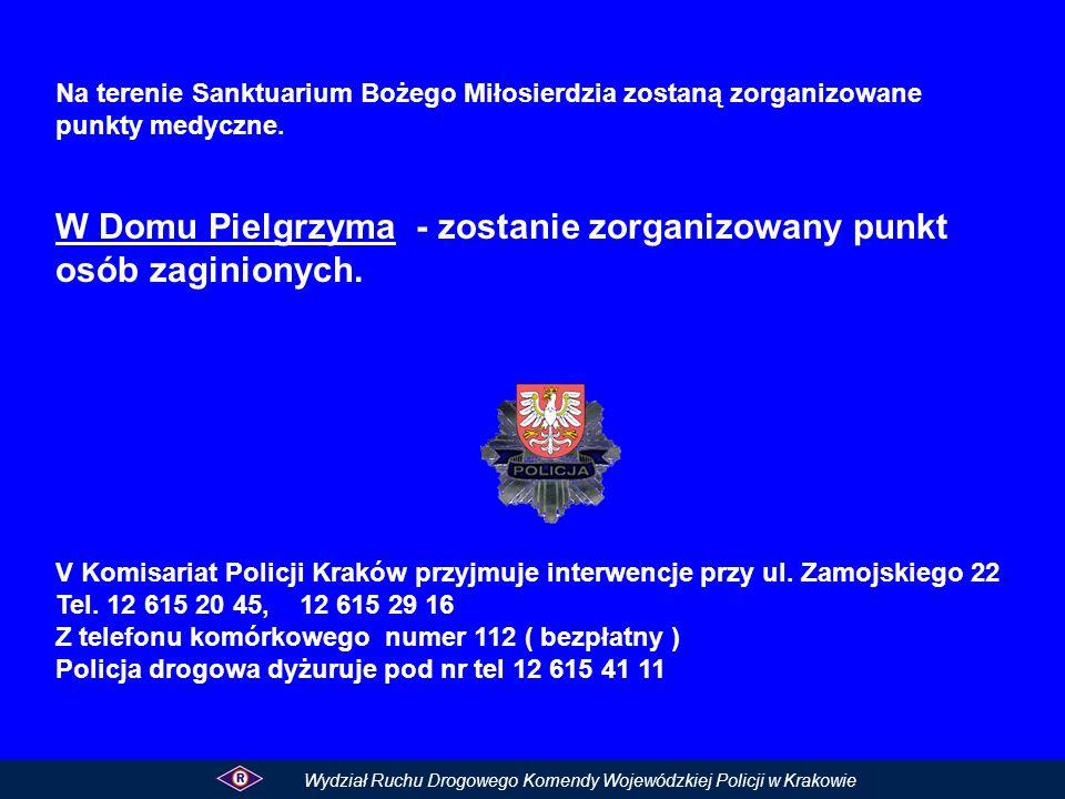 W Domu Pielgrzyma - zostanie zorganizowany punkt osób zaginionych.