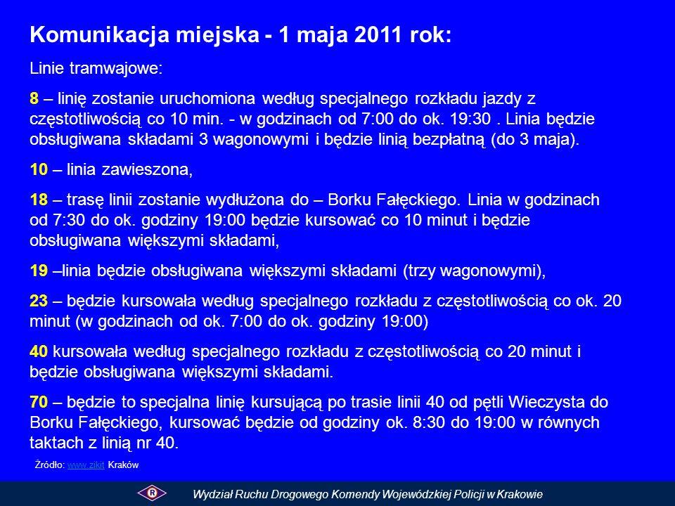 Komunikacja miejska - 1 maja 2011 rok: