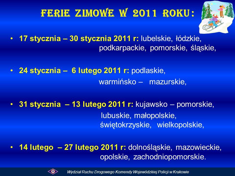 Ferie zimowe w 2011 roku :