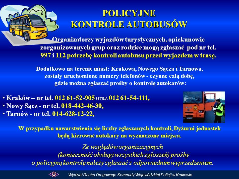 POLICYJNE KONTROLE AUTOBUSÓW