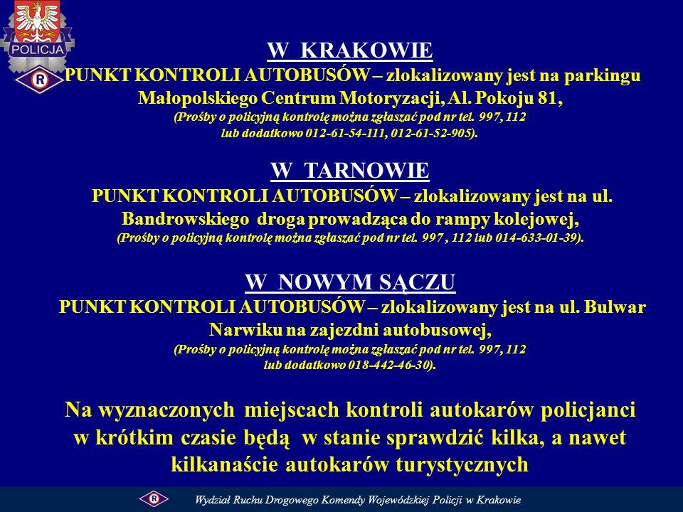 (Prośby o policyjną kontrolę można zgłaszać pod nr tel. 997, 112