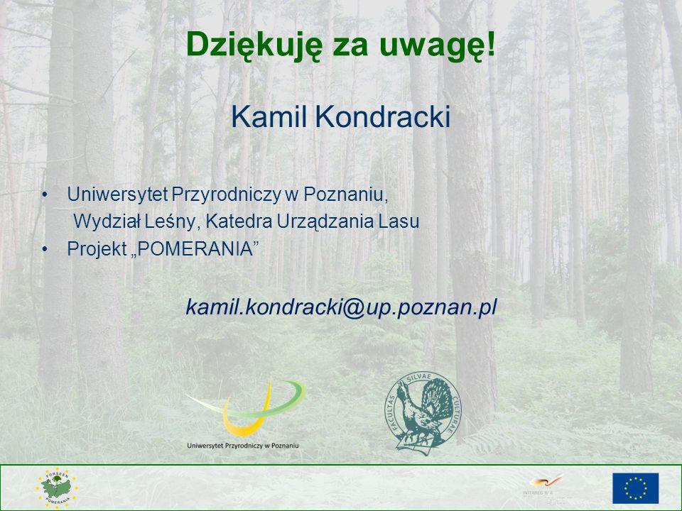 Dziękuję za uwagę! Kamil Kondracki kamil.kondracki@up.poznan.pl