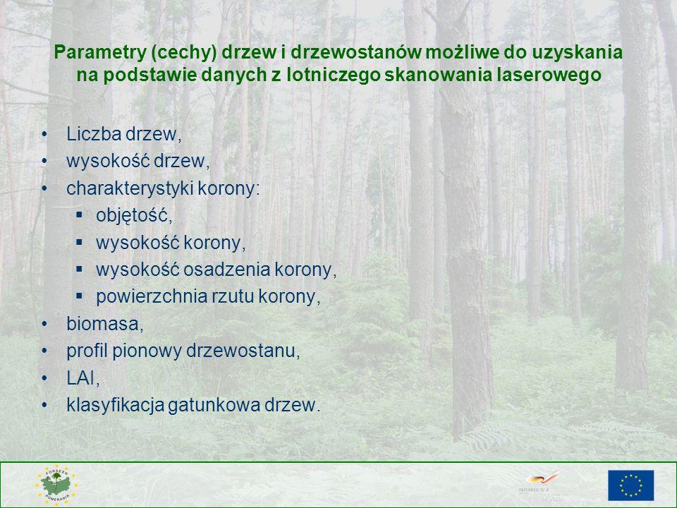 Parametry (cechy) drzew i drzewostanów możliwe do uzyskania na podstawie danych z lotniczego skanowania laserowego
