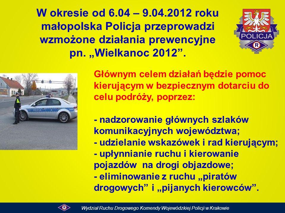 """W okresie od 6.04 – 9.04.2012 roku małopolska Policja przeprowadzi wzmożone działania prewencyjne pn. """"Wielkanoc 2012 ."""