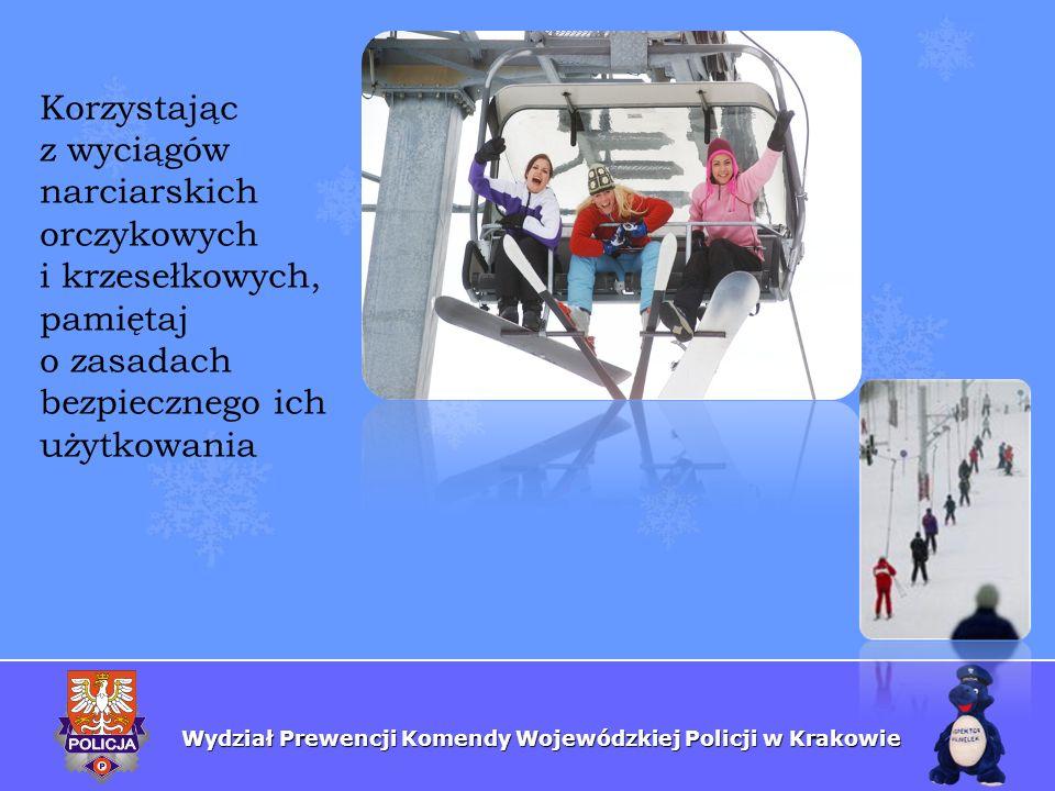 Korzystającz wyciągów narciarskich orczykowych i krzesełkowych, pamiętaj o zasadach bezpiecznego ich użytkowania.