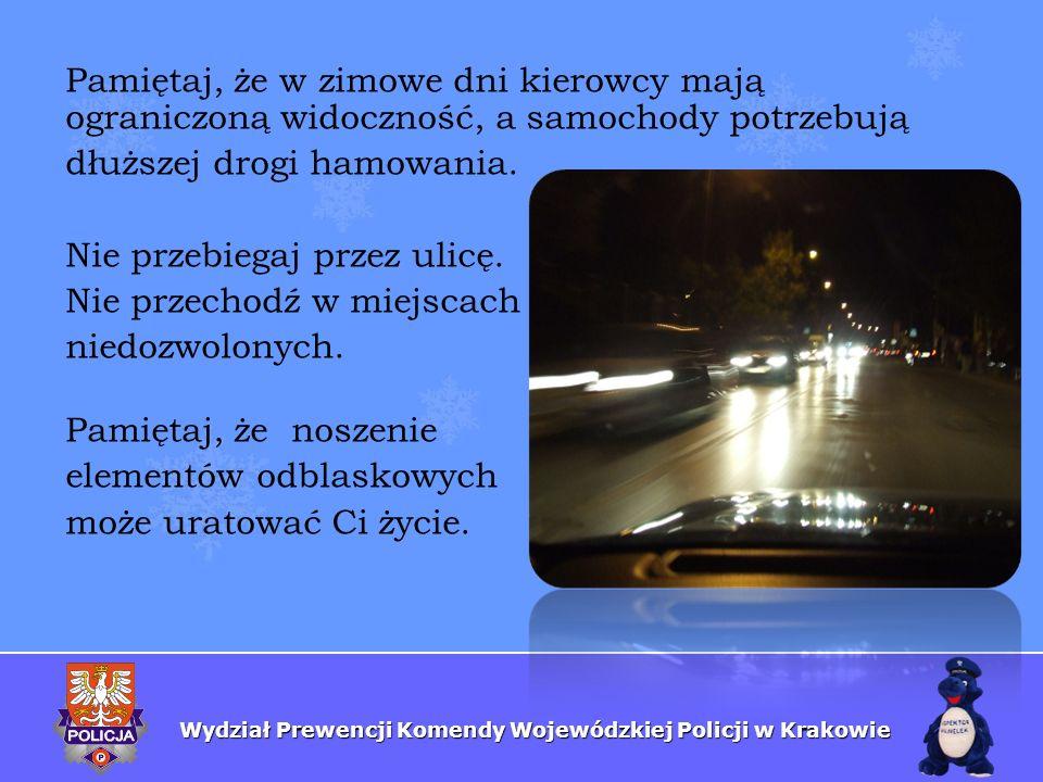 Pamiętaj, że w zimowe dni kierowcy mają ograniczoną widoczność, a samochody potrzebują