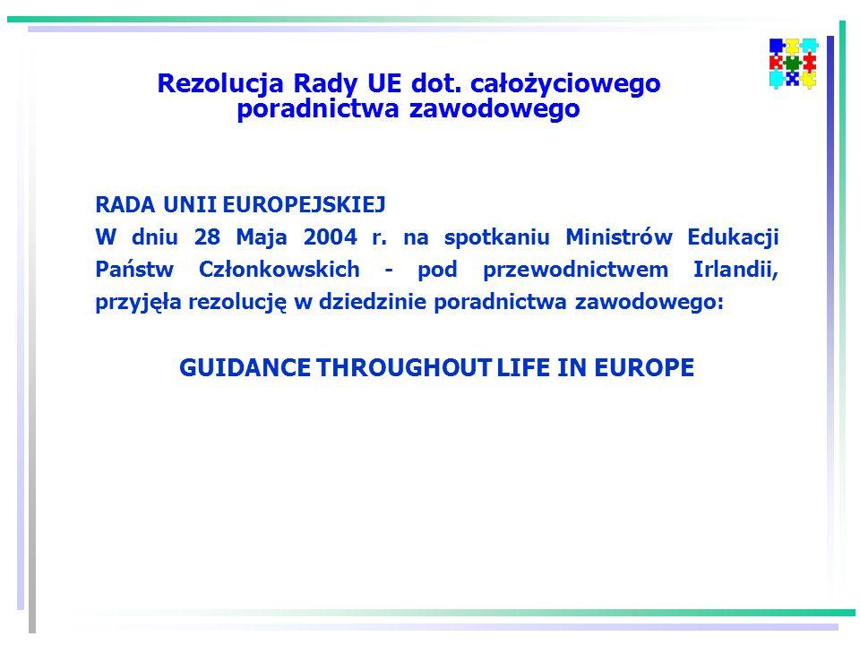 Rezolucja Rady UE dot. całożyciowego poradnictwa zawodowego