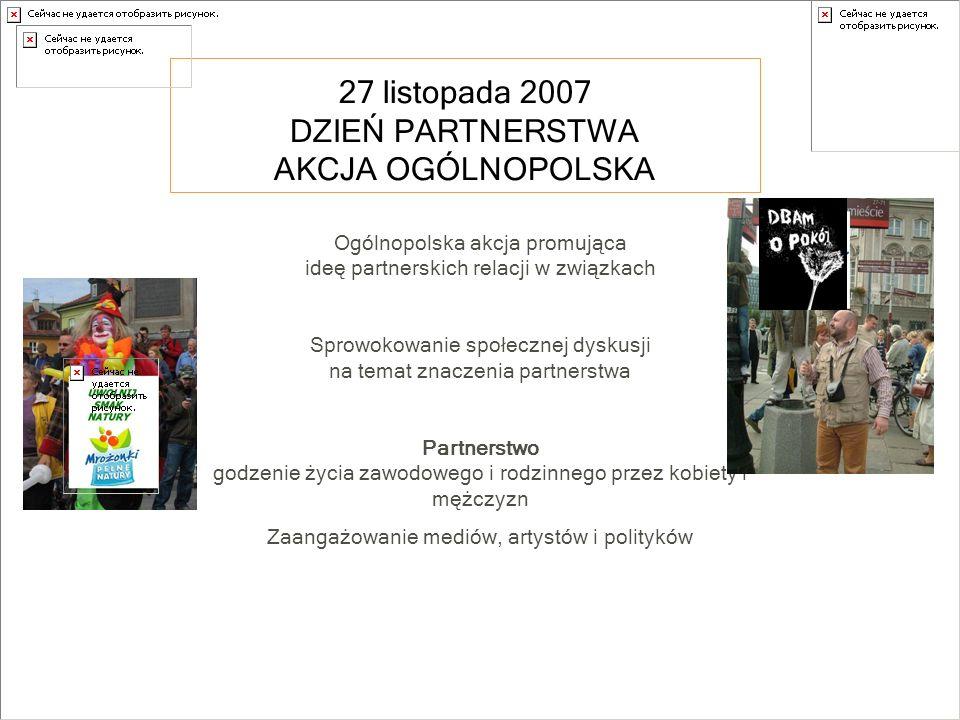 27 listopada 2007 DZIEŃ PARTNERSTWA AKCJA OGÓLNOPOLSKA