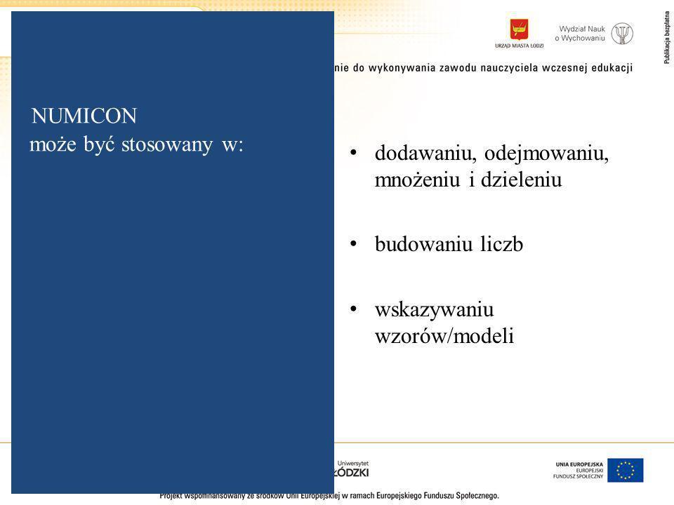 NUMICON może być stosowany w: