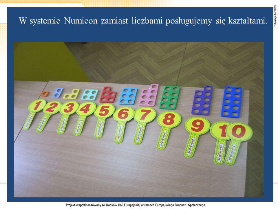 W systemie Numicon zamiast liczbami posługujemy się kształtami.