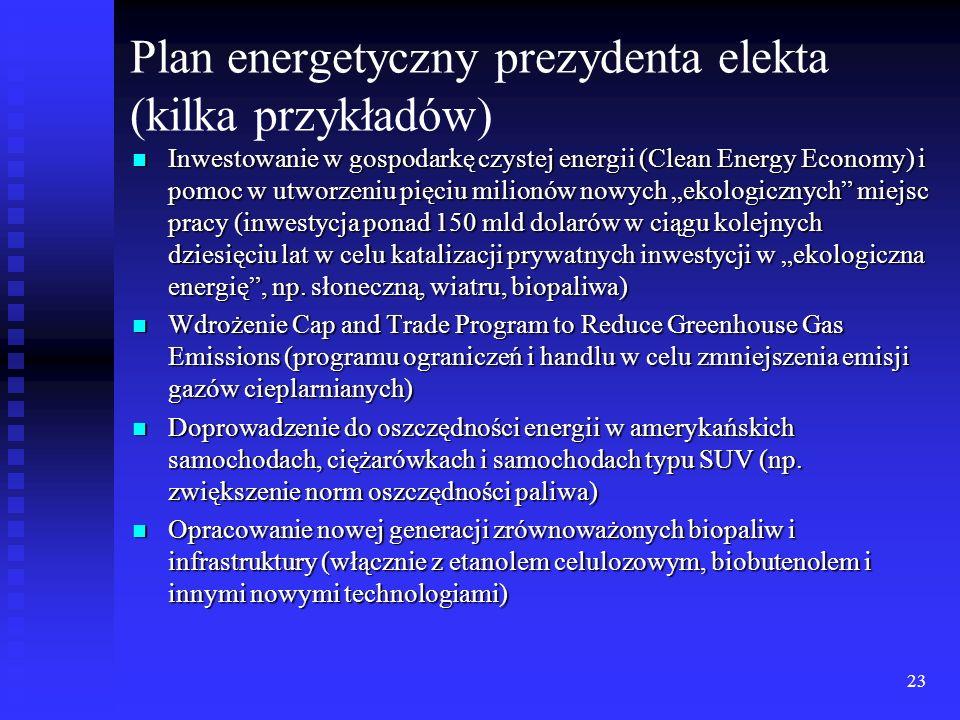 Plan energetyczny prezydenta elekta (kilka przykładów)