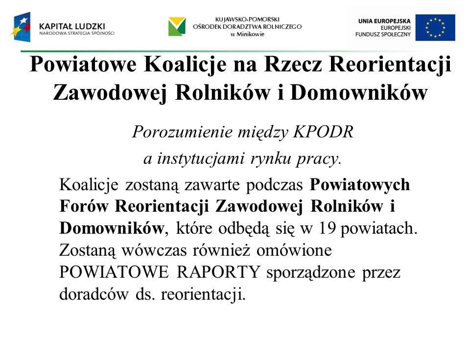 Powiatowe Koalicje na Rzecz Reorientacji Zawodowej Rolników i Domowników