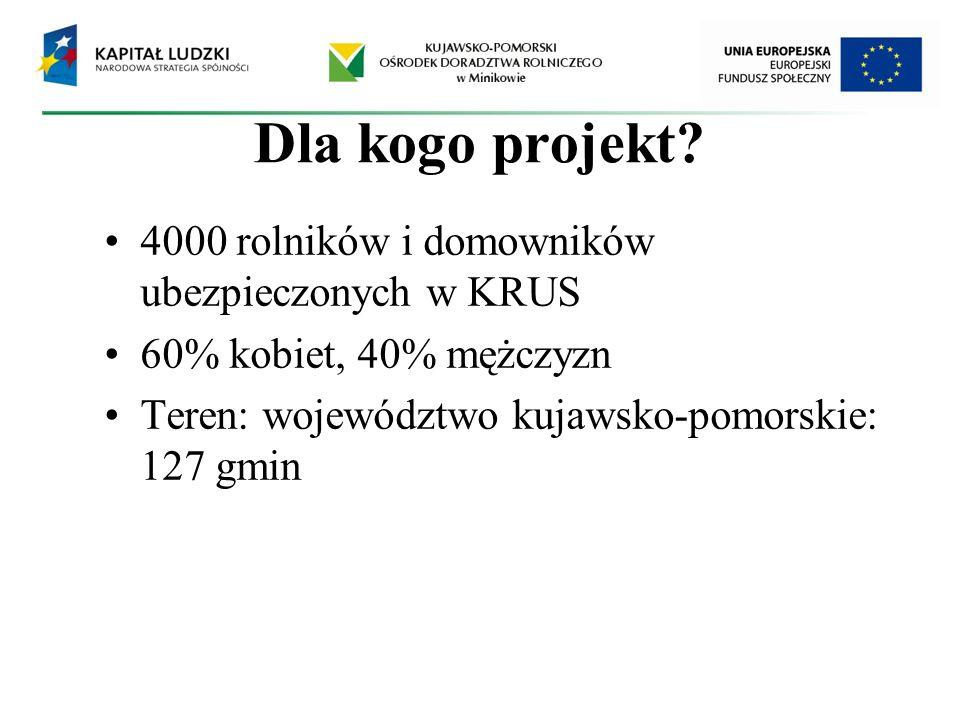 Dla kogo projekt 4000 rolników i domowników ubezpieczonych w KRUS