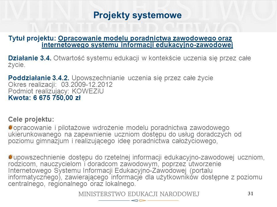 internetowego systemu informacji edukacyjno-zawodowej