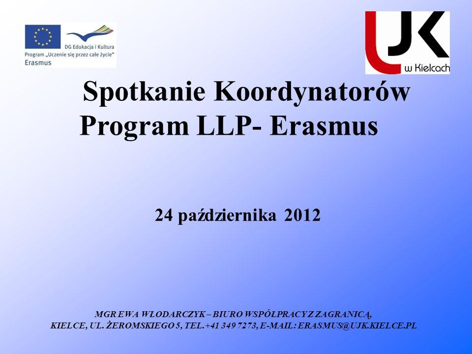 Spotkanie Koordynatorów Program LLP- Erasmus