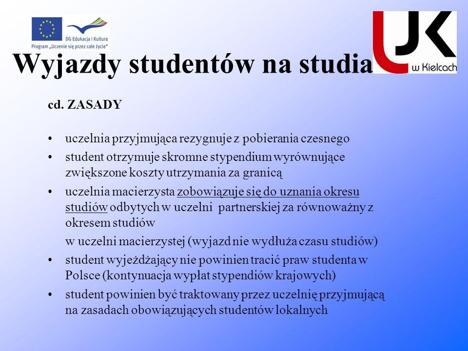 Wyjazdy studentów na studia