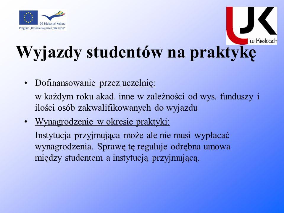 Wyjazdy studentów na praktykę