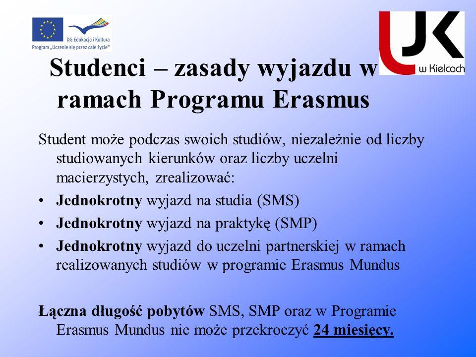 Studenci – zasady wyjazdu w ramach Programu Erasmus
