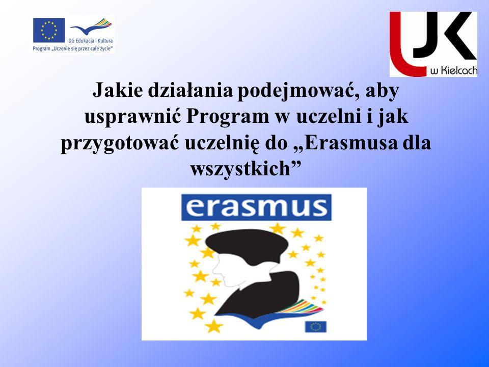 """Jakie działania podejmować, aby usprawnić Program w uczelni i jak przygotować uczelnię do """"Erasmusa dla wszystkich"""