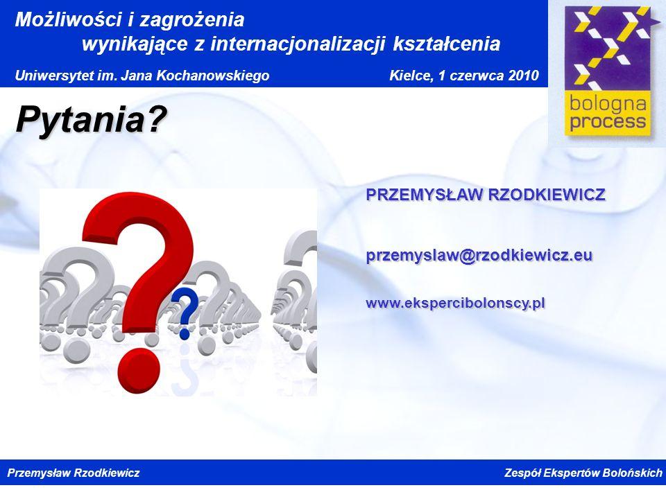 Pytania PRZEMYSŁAW RZODKIEWICZ przemyslaw@rzodkiewicz.eu