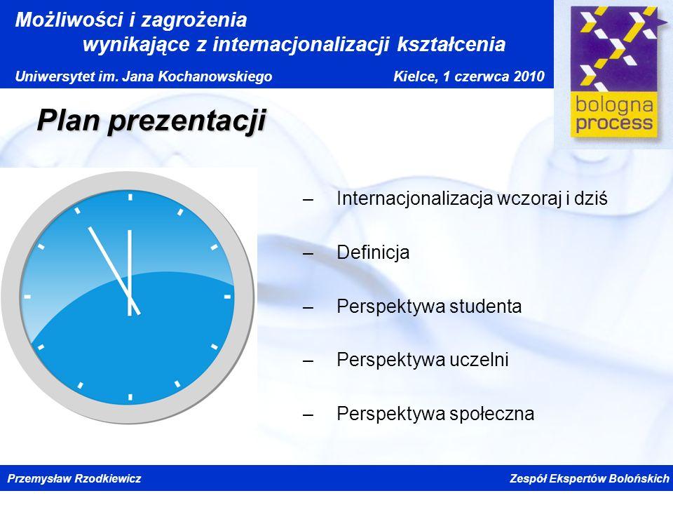 Plan prezentacji Internacjonalizacja wczoraj i dziś Definicja