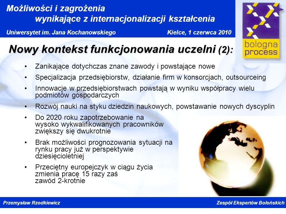 Nowy kontekst funkcjonowania uczelni (2):